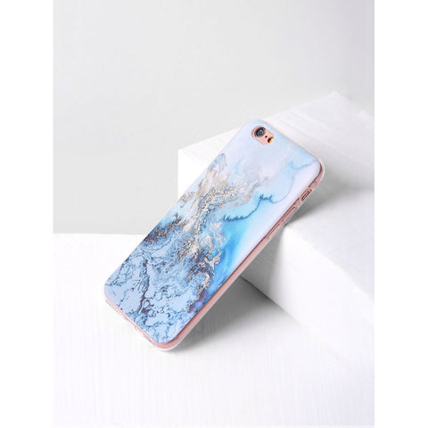 Blue Marble Print iPhone Case - Anabella's
