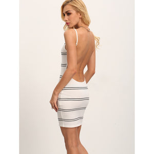 Cami Straps Backless Bodycon Dress