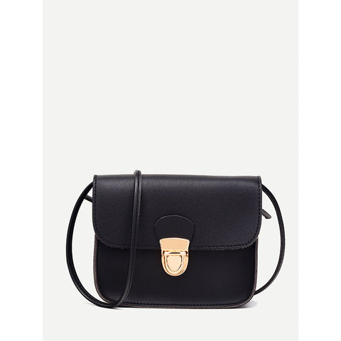 Push Lock Satchel bag Black