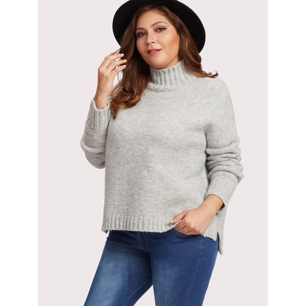 Stepped Hem Chenille Jumper - Anabella's
