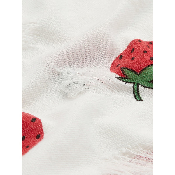 Allover Strawberry Print Top And Shorts PJ Set