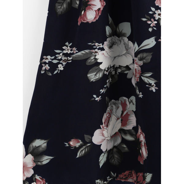 All Over Florals Faux Pearl Detail Cami Dress