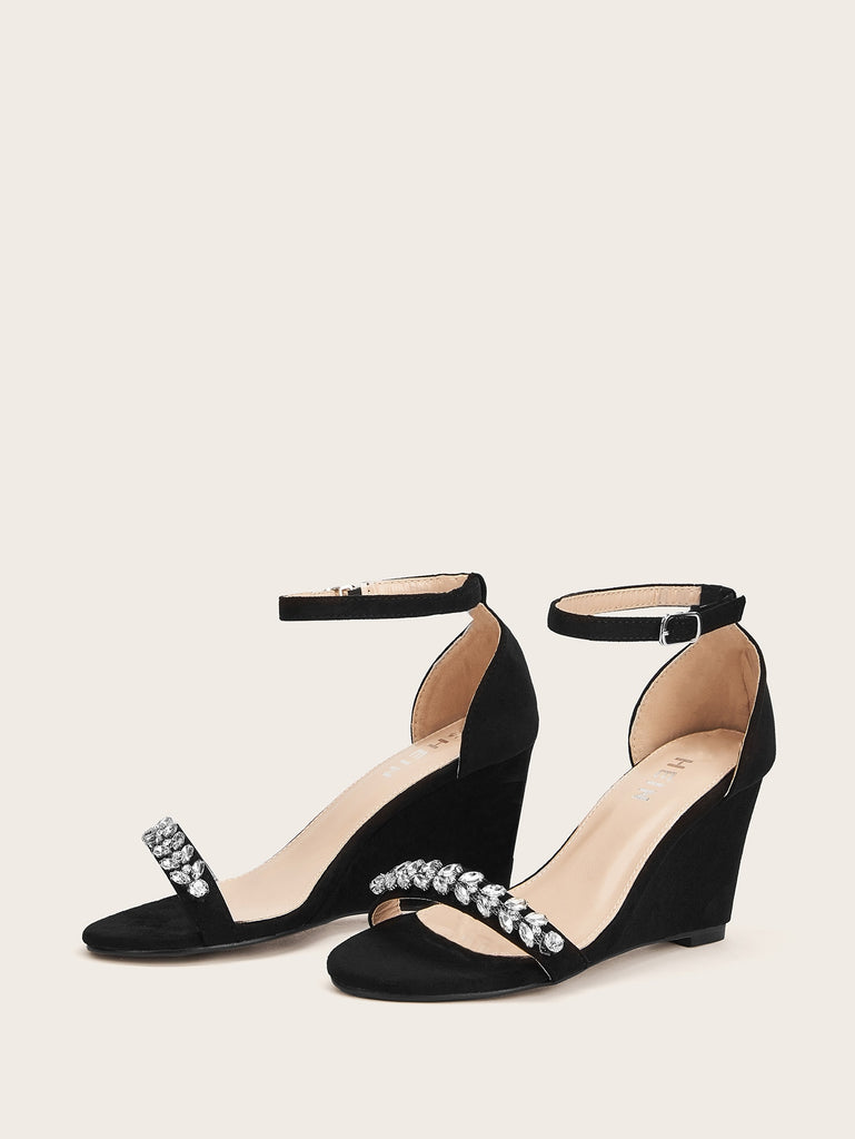 809c660e158 ... Two Part Ankle Strap Wedges ...