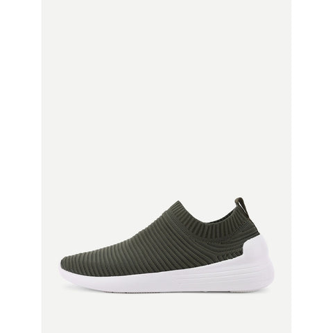 Knit Design Low Top Sneakers - Anabella's