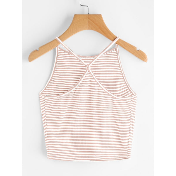 Striped Cami Top PINK - Anabella's