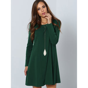 Solid Swing Tee Dress