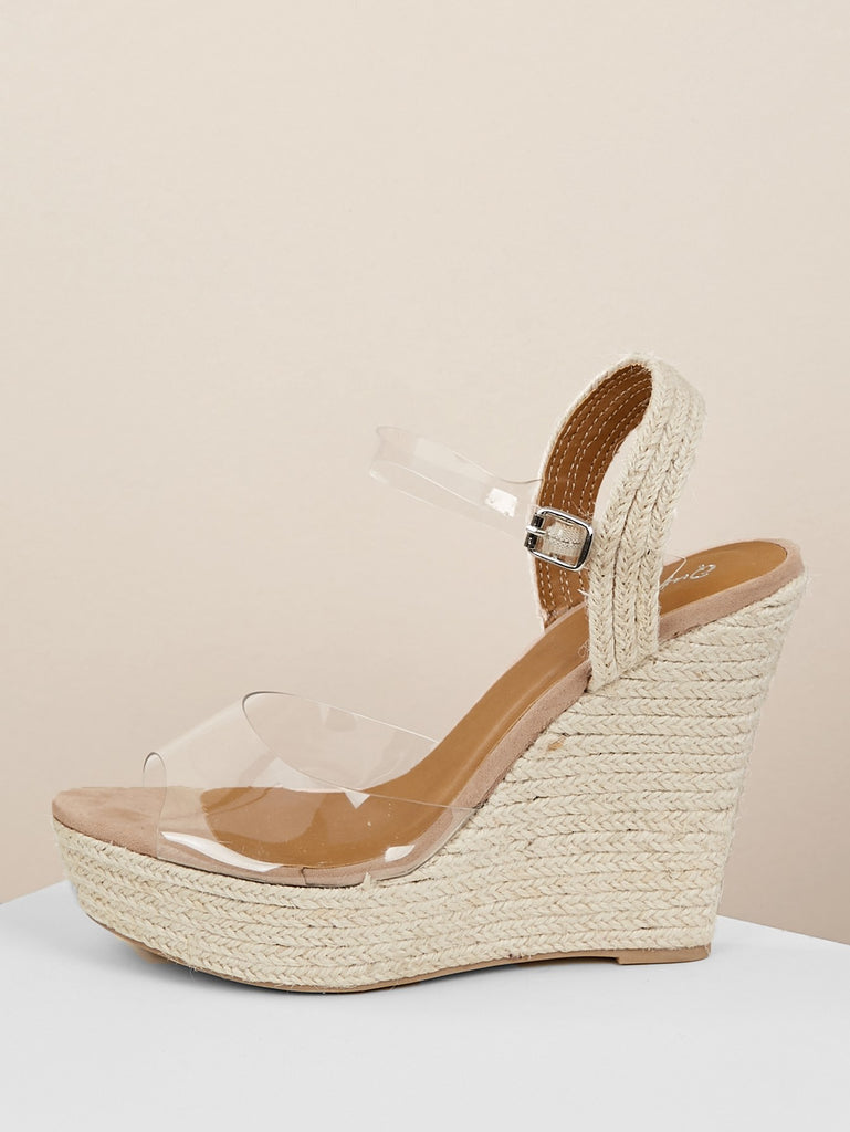 aaf7171638f ... Iridescent Strap Jute Wrap Platform Wedge Sandals