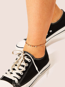 Bead Charm Chain Anklet 1pc