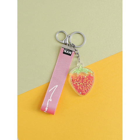 Strawberry Design Keychain