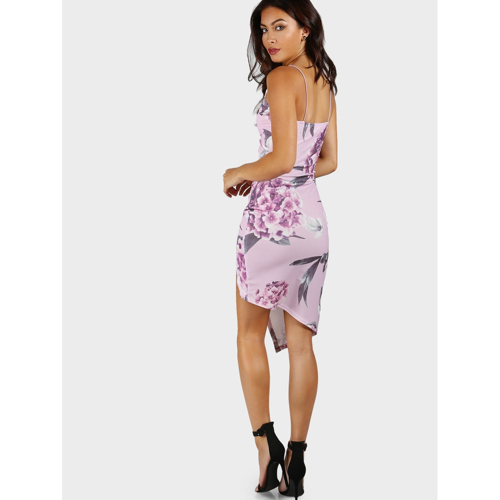 9d2f4ae771 Floral Print Overlap Cami Dress | Anabella's