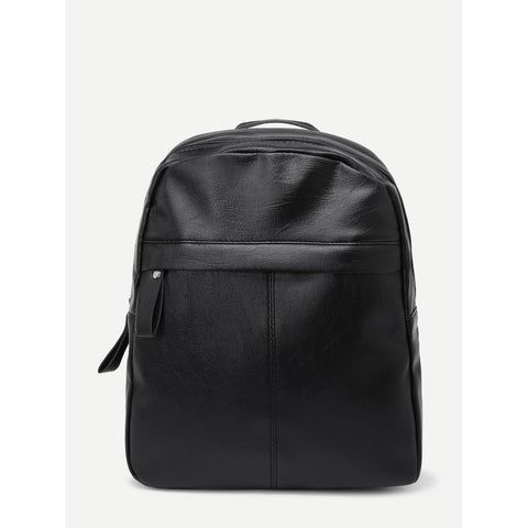 PU Zipper Design Backpack