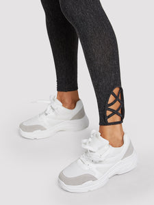 Plain Lace-up Chunky Trainers