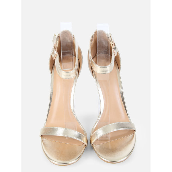 Metallic Single Sole Heels GOLD - Anabella's