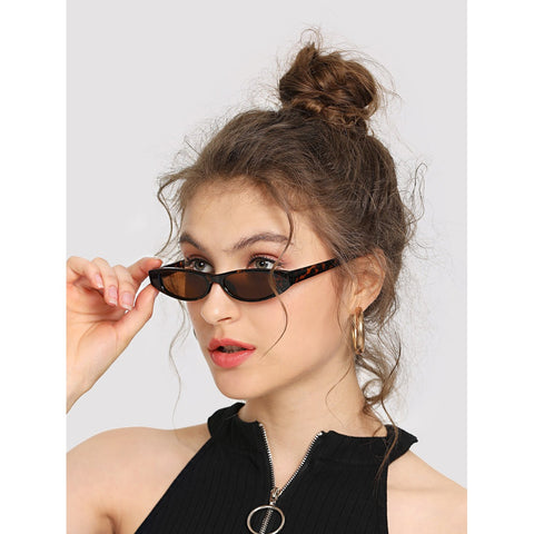 Oval Lens Sunglasses BROWN