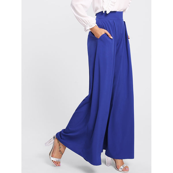 Pleated Zip Up Back Wide Leg Pants - Anabella's