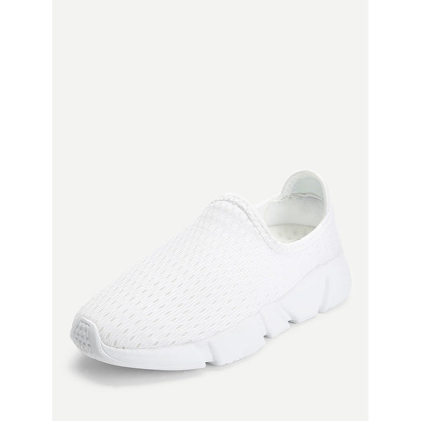 Net Surface Low Top Sneakers White