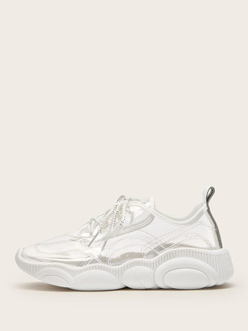Transparent Lace-up Chunky Sneakers