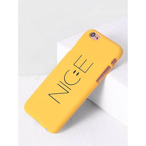 Yellow Letter Print iPhone Case - Anabella's