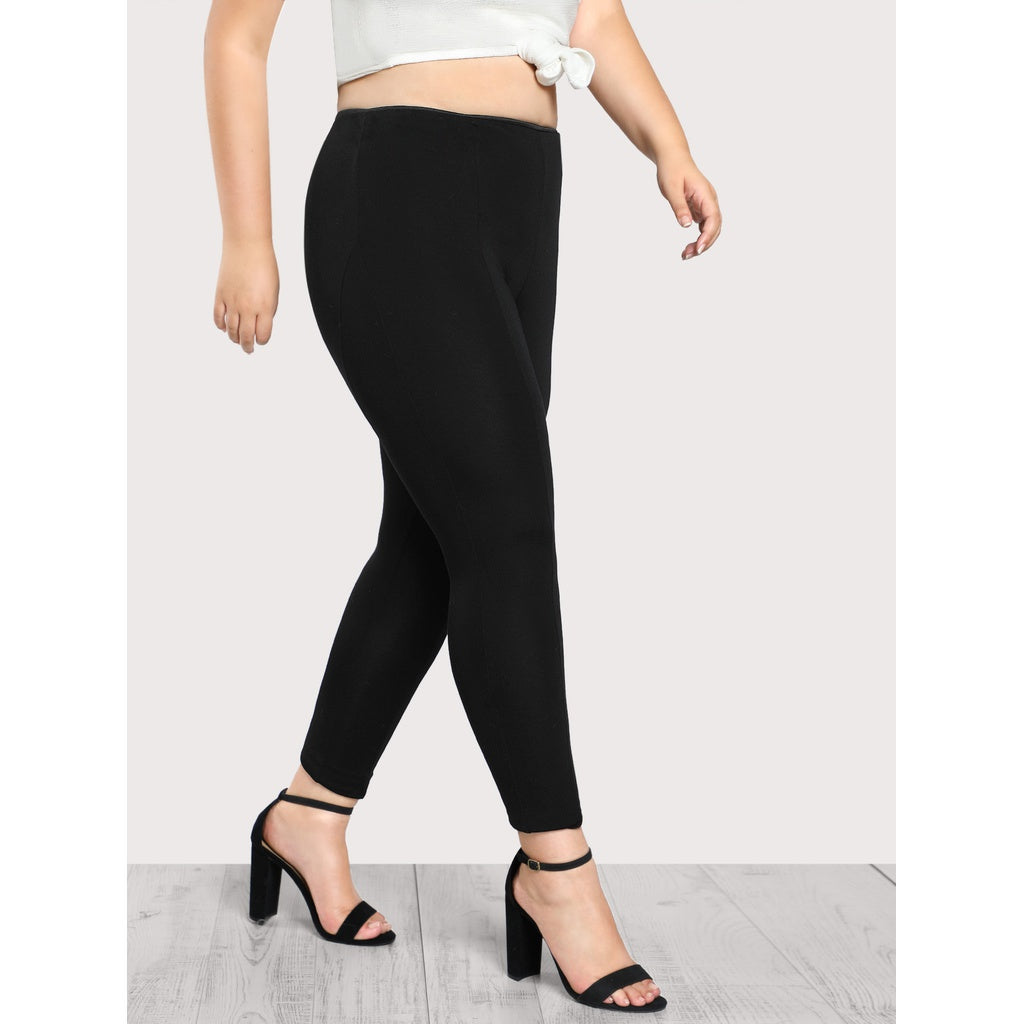 High Rise Piped Skinny Pants - Anabella's