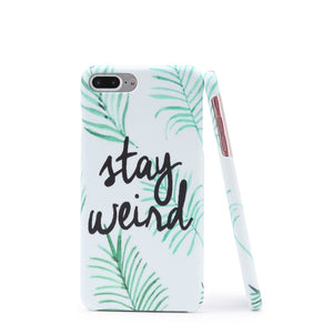 Leaf And Letter Print iPhone Case - Anabella's