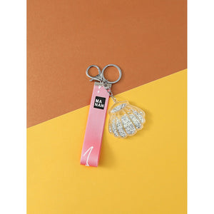 Slogan Tape & Shell Bag Charm