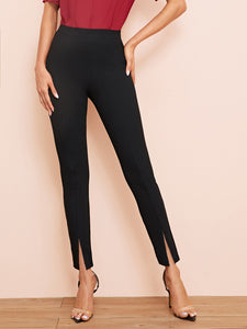Split Hem Cigarette Pants