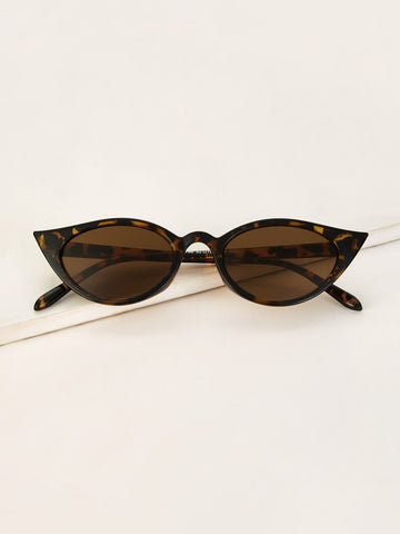 Cat Eye Tortoiseshell Frame Sunglasses