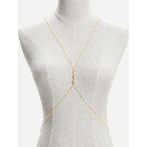 Rhinestone Detail Body Chain