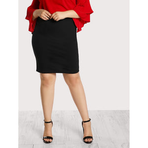 Slit Back Pencil Skirt - Anabella's