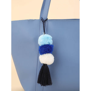 Pom Pom Tassel Detail Bag Accessory