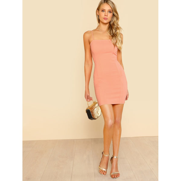 Solid Cami Bodycon Dress - Anabella's