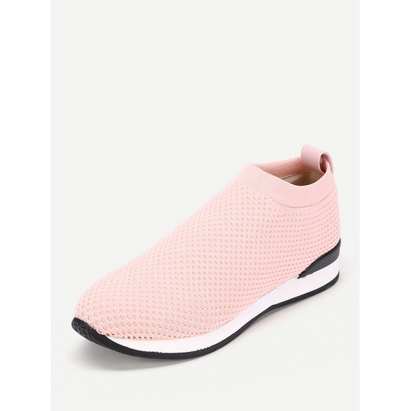 Net Surface Track Sneakers PINK - Anabella's