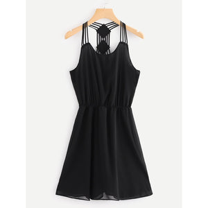 Strappy Detail Skater Dress