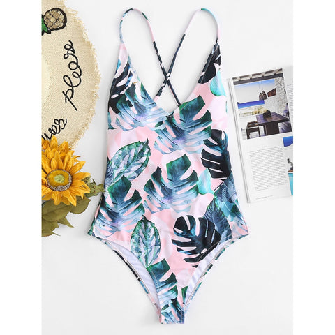 Tropical Print Swimsuit MULTI