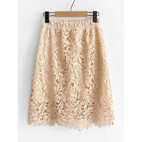 Knee Length Lace Skirt