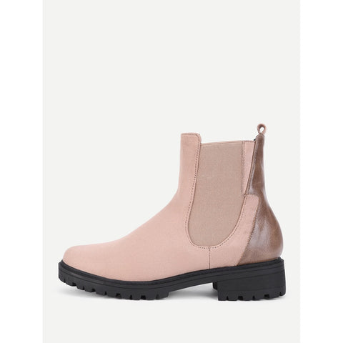 Round Toe Chelsea Boots - Anabella's