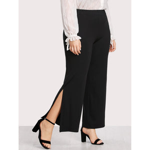 Split Side Wide Leg Pants - Anabella's