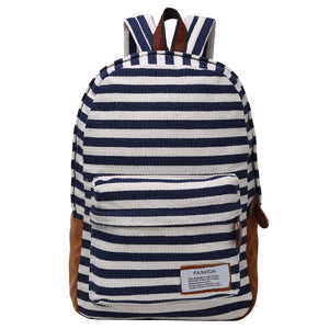 Striped Canvas Backpack Multicolor