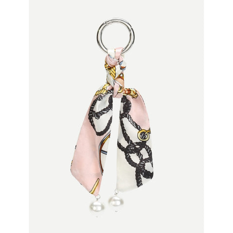 Bag Strap With Faux Pearl Multicolor