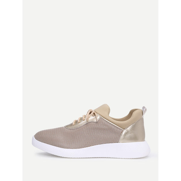 Net Surface Slip On Sneakers - Anabella's