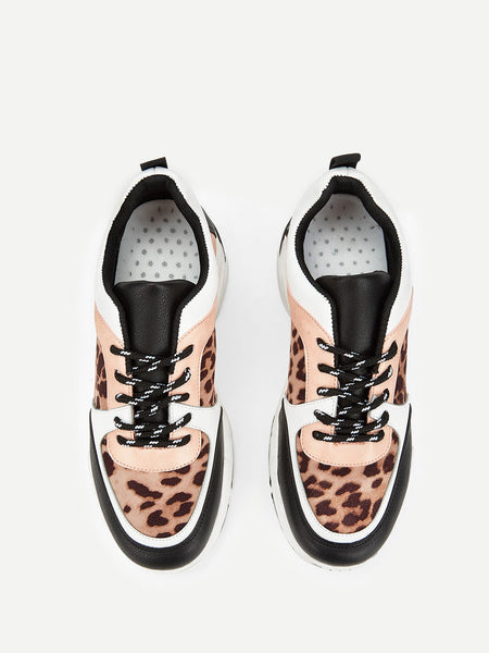 Leopard Pattern Chunky Sole Trainers