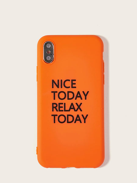 Slogan Pattern iPhone Case