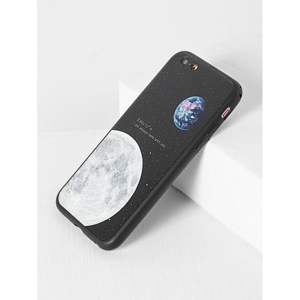 Black Moon Pattern iPhone Case - Anabella's