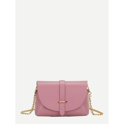 Metal Detail Chain Bag Pink