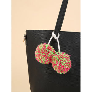 Double Pom Pom Bag Design Accessory