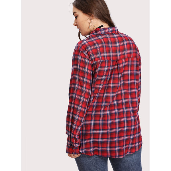 Button Up Checkered Shirt - Anabella's
