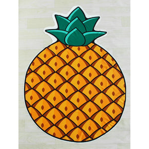 Pineapple Print Asymmetrical Beach Blanket
