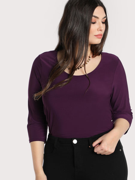Criss Cross Back Quarter Sleeve Top - Anabella's