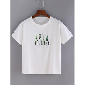 Bottle Embroidered T-shirt