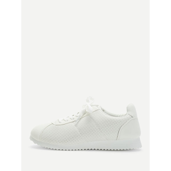 Low Top Lace Up Sneakers - Anabella's